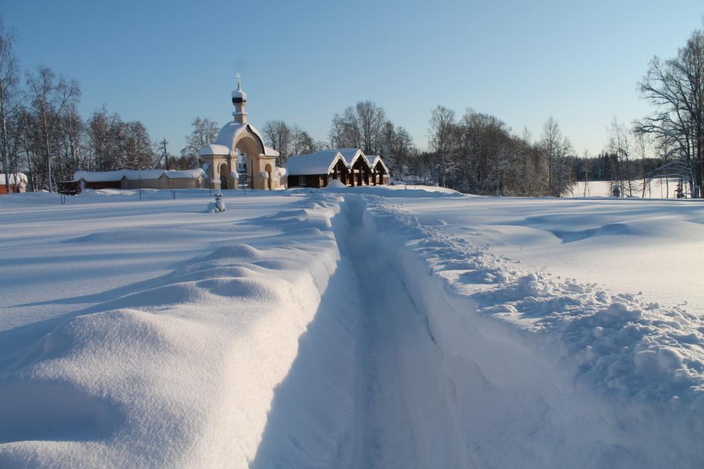 Монастырские зимние виды. Фотоальбом.